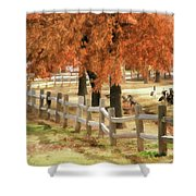 An Autumn Day At The Park Shower Curtain