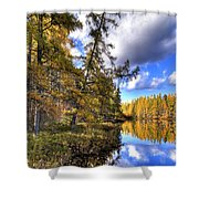An Autumn Day At Woodcraft Camp Shower Curtain