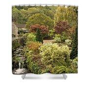 An Autumn Garden  Shower Curtain