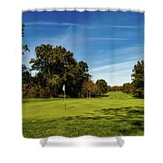 An Autumn Golf Day Shower Curtain