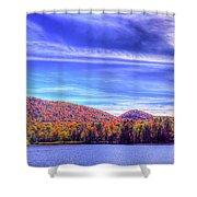 An Autumn Panorama Shower Curtain