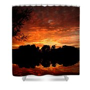An Awesome Sunset  Shower Curtain