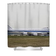 An E-4 Advanced Airborne Command Post Shower Curtain