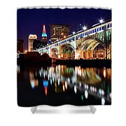 An Early Evening In Cleveland Shower Curtain