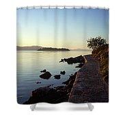 An Early Walk Shower Curtain