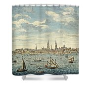 An East Prospective View Of The City Of Philadelphia Shower Curtain