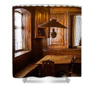An Empty Table Shower Curtain