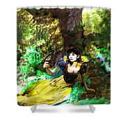 An Enchanted Moment Shower Curtain