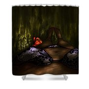 An Enchanted Visit Shower Curtain