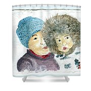 An Eskimo Mother And Child Shower Curtain