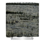 An Evening Float Shower Curtain