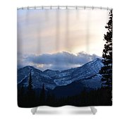 An Evening In The Mountains Shower Curtain