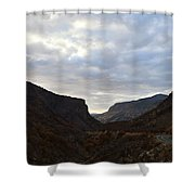 An Evening View Through A Valley In The Southwest Foothills Of The Sierra Nevadas Shower Curtain