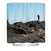 An Excellent Shot Shower Curtain