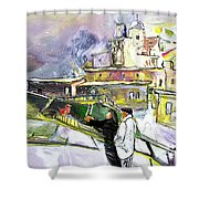 An Exotic Guest In Spain Shower Curtain