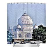 An Extraordinary View - The Taj Mahal Shower Curtain