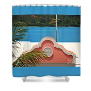 An Eye Brow Roof At Grotto Bay Shower Curtain