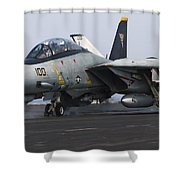 An F-14d Tomcat Launches Off The Flight Shower Curtain