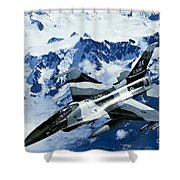 An F-15c Falcon From The 18th Aggressor Shower Curtain