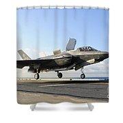 An F-35b Lightning II Lifts Shower Curtain