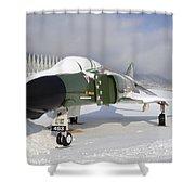 An F-4d Phantom II Aircraft Static Shower Curtain