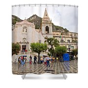 An Iffy Day In Taormina Shower Curtain