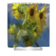 An Impression Of Sunflowers In The Sun Shower Curtain