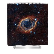 A Look In Infrared At The Helix Nebula Shower Curtain