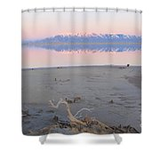 An Island Sunset Shower Curtain