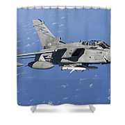 An Italian Air Force Tornado Ids Armed Shower Curtain