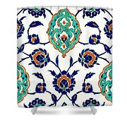 An Iznik Polychrome Tile, Turkey, Circa 1575, By Adam Asar, No 23h Shower Curtain