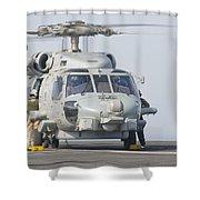 An Mh-60r Seahawk Embarked Aboard Uss Shower Curtain