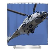 An Nh90 Helicopter Of The French Navy Shower Curtain