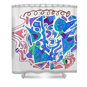 An Obtuse Mind Shower Curtain