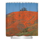 An Ocean Of Orange On The Mountain Top Shower Curtain