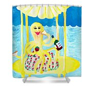 An Octopus Summerhouse Shower Curtain