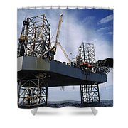 An Oil And Gas Drilling Platform Shower Curtain