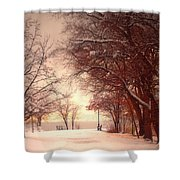 An Okanagan Winter Shower Curtain