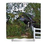 An Old Barn Shower Curtain