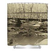 An Old Bridge Shower Curtain