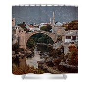 An Old Bridge In Mostar Shower Curtain