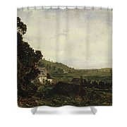 An Old Chapel In A Valley Shower Curtain