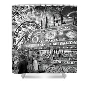 An Old Fashioned Carnival Shower Curtain