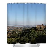 An Old House In The Tuscany Hills Shower Curtain