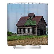 An Old Illinois Barn Shower Curtain