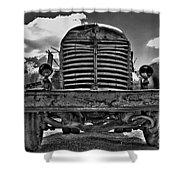 An Old International Truck Shower Curtain