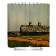 An Old Montana Barn Shower Curtain