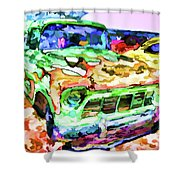 An Old Pickup Truck 1 Shower Curtain