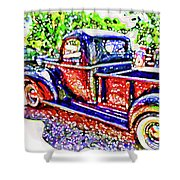 An Old Pickup Truck 3 Shower Curtain