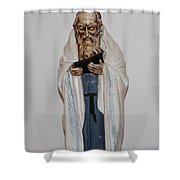 An Old Rabbi Shower Curtain